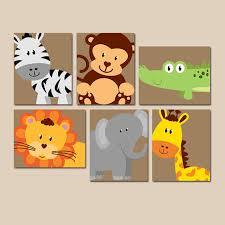 baby schlafzimmer set safari tier wandkunst tierische kinderzimmer artwork zoo