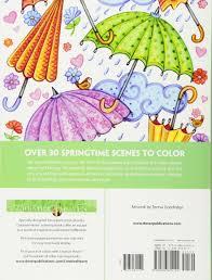 amazon com creative haven spring scenes coloring book creative