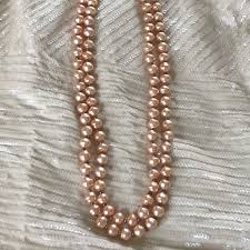 pearl bead necklace images Jewelry double strand pearl bead necklace poshmark jpg