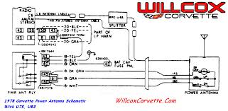 1978 corvette power antenna schematic willcox corvette inc