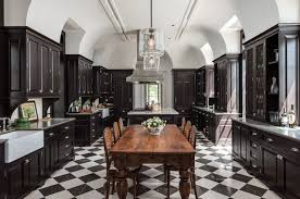 black and white kitchen floor ideas kitchen with two black islands contemporary kitchen and awesome