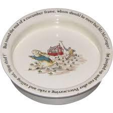 rabbit wedgwood vintage baby dish wedgwood rabbit judy s lovelies ruby