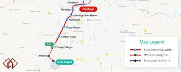 Metro Line Map by Lucknow Metro Rail Corporation Official Website Of Lmrc