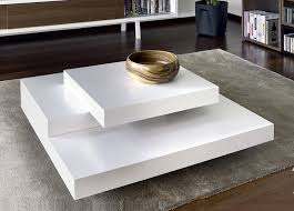 Contemporary White Coffee Table  Glamour Of Contemporary Coffee - Designer coffee tables