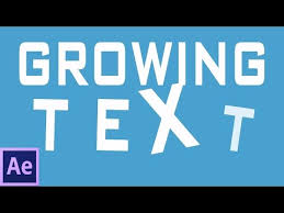 growing text effect tutorial adobe after effects cs6 youtube