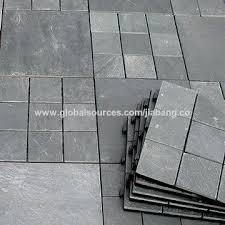 china natural slate stone decking floor tile heat resistant