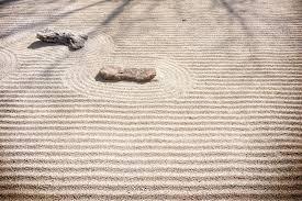 zen rock garden sand patterns stock photo image 51423008