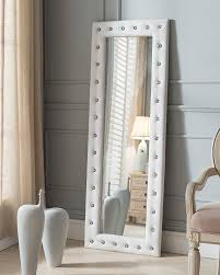 mirror home decor brand white modern upholstered tufted standing
