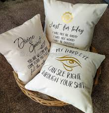 Pillow Store Reiki Principles Just For Today Cotton Canvas Pillow Meditation