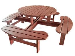 garden and patio diy small round wood park picnic table with
