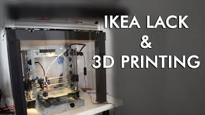 ikea hack for 3d printing enclosing a p3steel in a lack table