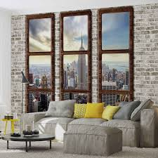 wall mural new york city skyline window view xxl photo wallpaper carousel img