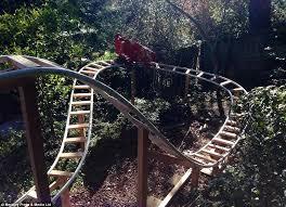 roller coaster for backyard californian man builds roller coaster in his back garden daily