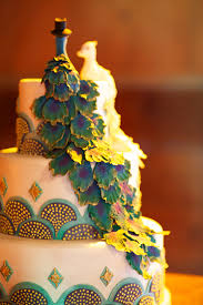 Peacock Themed Wedding Peacock Themed Wedding Cake Elizabeth Anne Designs The Wedding Blog
