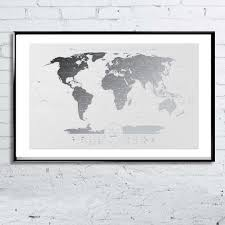 Scratch Off Map Deluxe Transparent Scratch Off Map Of The World Poster 96 X 60 Cm