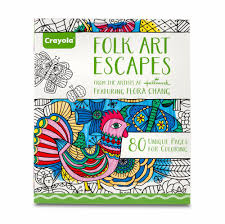 make my own coloring book amazon com crayola folk art escapes coloring book toys u0026 games