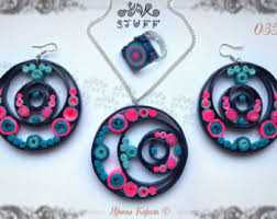 quilling earrings set quilled jewelry etsy