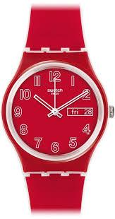 red swatch amazon com swatch poppy field quartz plastic and silicone