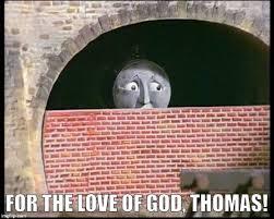 Edgar Allen Poe Meme - thomas the tank engine as written by edgar allen poe meme guy