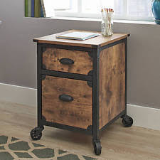 2 Drawer Wooden Filing Cabinet File Cabinet 2 Drawer Rustic Wood Metal Country Industrial Home