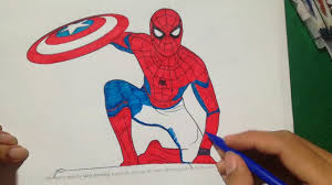 spiderman homecoming coloring book captain america coloring book