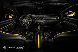 Ferrari F12 Limited Edition - carlex design gives yellow ferrari f12 a new interior autoevolution