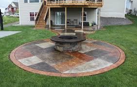 Backyard Cement Patio Ideas Triyae Com U003d Concrete Patio Ideas For Backyard Various Design