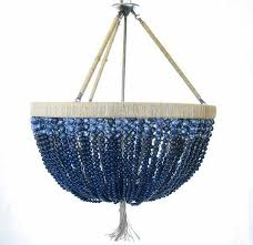 Handmade Chandeliers Lighting Au Courant Interiors Coastal Beaded Chandeliers Casual Luxury