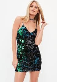 sequin dress black velvet sequin dress missguided