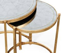 gold nesting coffee table round nesting coffee table writehookstudio com