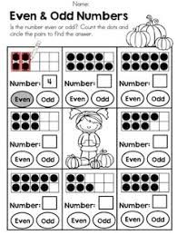 even and odd numbers great primary math worksheet follow up with