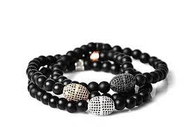onyx bracelet images Set of 3 contemporary black onyx bracelets fashion pirate jpg