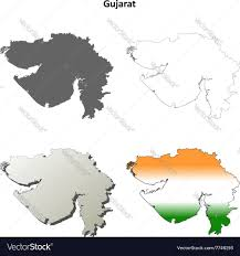 Blank Maharashtra Map by Gujarat Blank Detailed Outline Map Set Royalty Free Vector