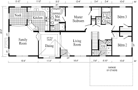 Custom Floor Plans For New Homes by Monticello Ranch Style Modular Home Pennwest Homes Model S