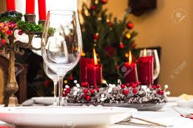Christmas Table by Set Up Christmas Table Inside A House Stock Photo Picture And