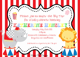 Baby Invitation Card Circus Baby Shower Invitations Theruntime Com