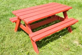 Plans For Picnic Tables by Easy Diy Kid Sized Picnic Table Kids Picnic Table Plans