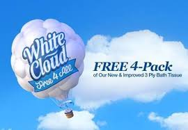 White Cloud Bathroom Tissue - free white cloud bath tissue 4 pack coupon limited number