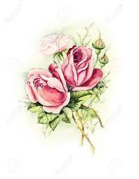 vintage cards vintage card pink wedding drawings watercolor painting