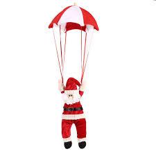 santa claus in parachute christmas tree decoration chicgrace