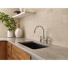 bridge kitchen faucet polished chrome port haven bridge kitchen faucet gt31 tdc