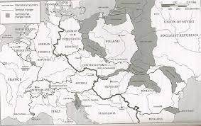 blank map of europe post wwii