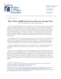 more than 28 000 schools can become hunger free center on budget