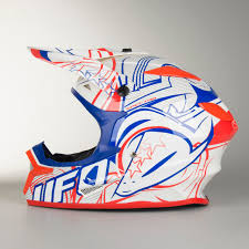 ufo motocross helmet ufo spectra kinetic motocross helmet white red blue quick