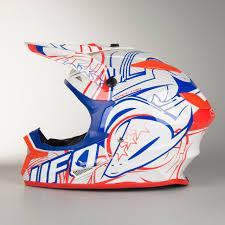 ufo motocross helmet ufo spectra kinetic motocross helmet white red blue quick