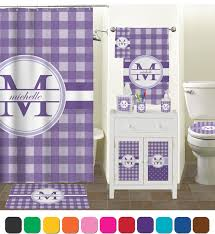 Pink Gingham Shower Curtain Gingham Print Shower Curtain Personalized Potty Training Concepts