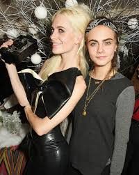 miller and poppy delevingne love magazine christmas party in