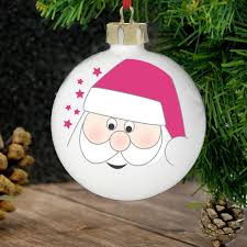 personalised santa christmas tree decoration vivabop