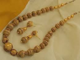 long gold beads necklace images Antique golden beads set emporia jewels jpg