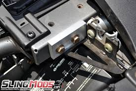 polaris slingshot hood latch reinforcement brackets by ddmworks